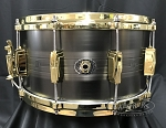 Ludwig Snare Drum USA 7x14 Heirloom Black Brass 110th Anniversary w/ Bag