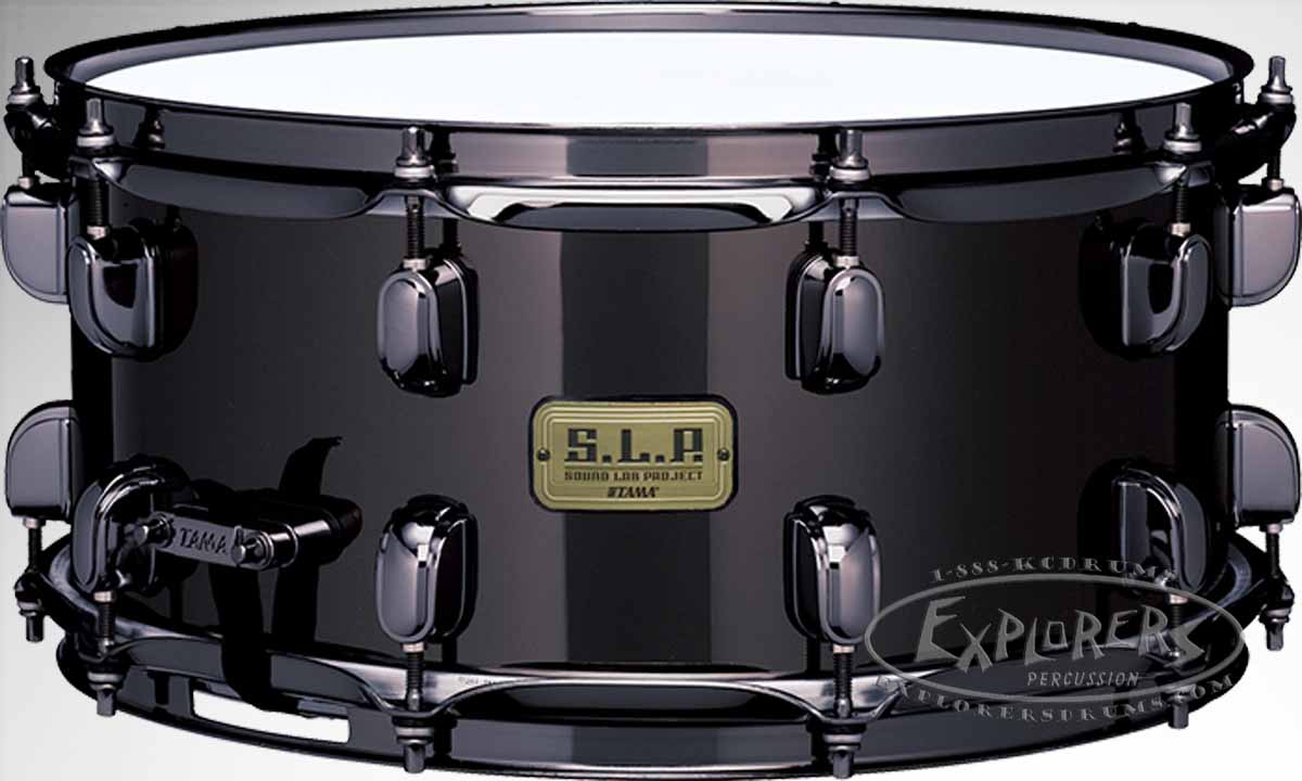 Tama Snare Drum S.L.P. Series 6.5x14 Black Brass Shell