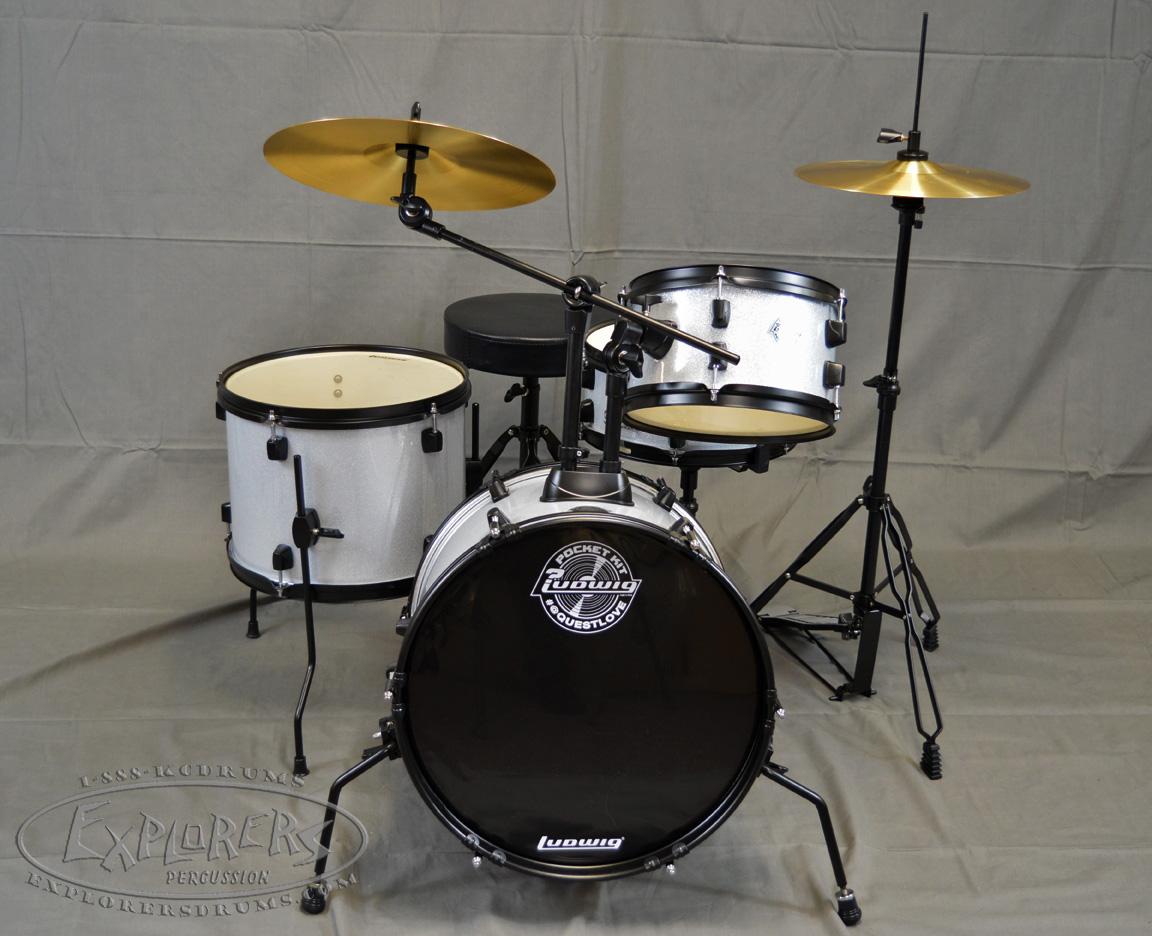 ludwig questlove pocket kit beginners complete drum set. Black Bedroom Furniture Sets. Home Design Ideas