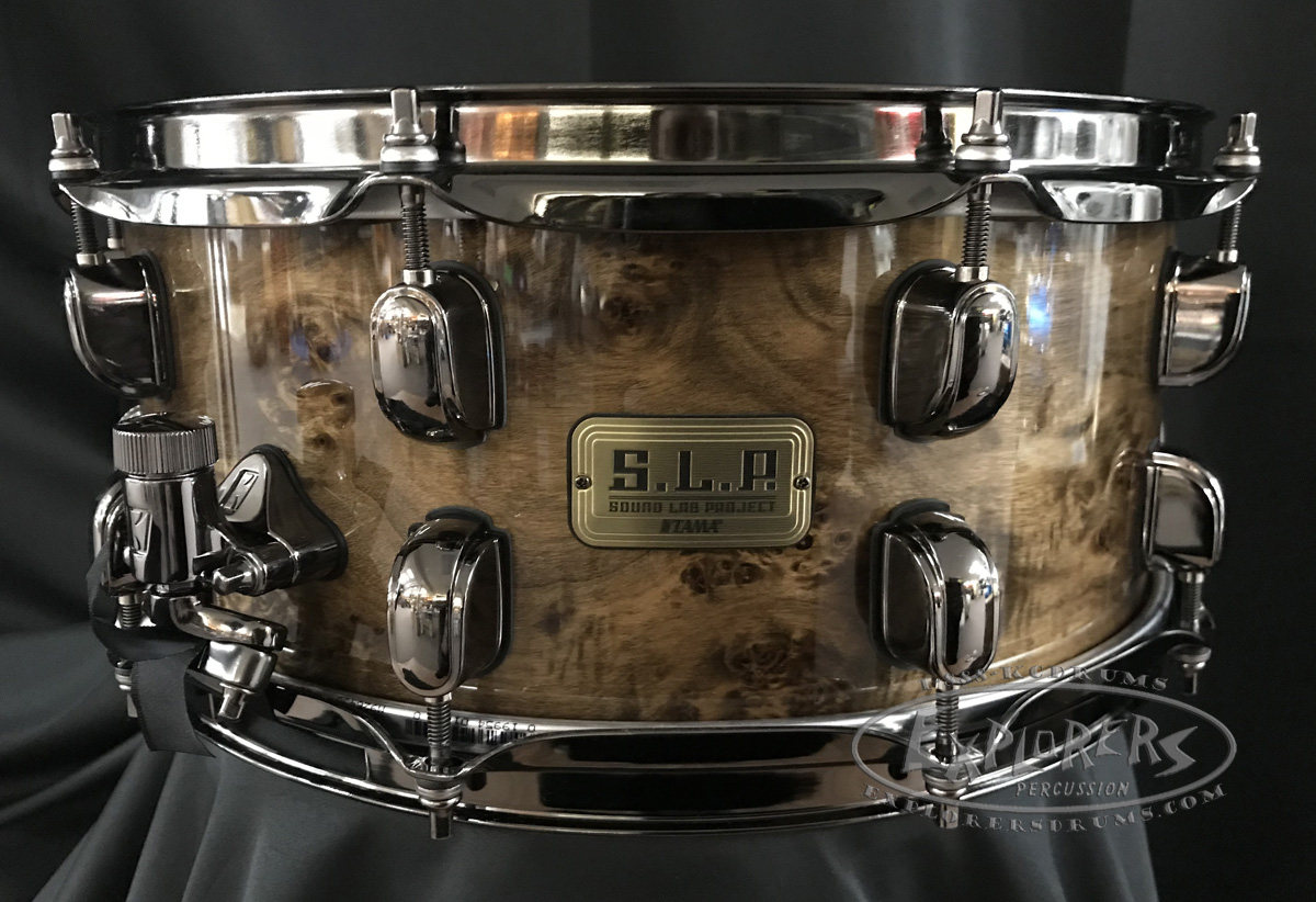 Tama Snare Drum S.L.P 6x14 G-Maple 13 ply Shell w/ Kona Mappa Burl Outer Ply