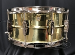 Ludwig Snare Drum USA 6.5x14 Super Series Brass Shell w/ Nickel Hardware