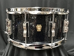 Ludwig Snare Drum USA 6.5x14 Classic Maple 7 Ply Shell in Black Galaxy