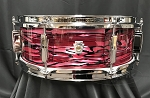 Ludwig Snare Drum USA 5x14 Club Date Maple / Poplar Shell  in Ruby Strata