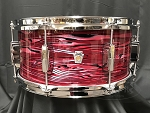 Ludwig Snare Drum USA 6.5x14 Club Date Maple / Poplar Shell  in Ruby Strata