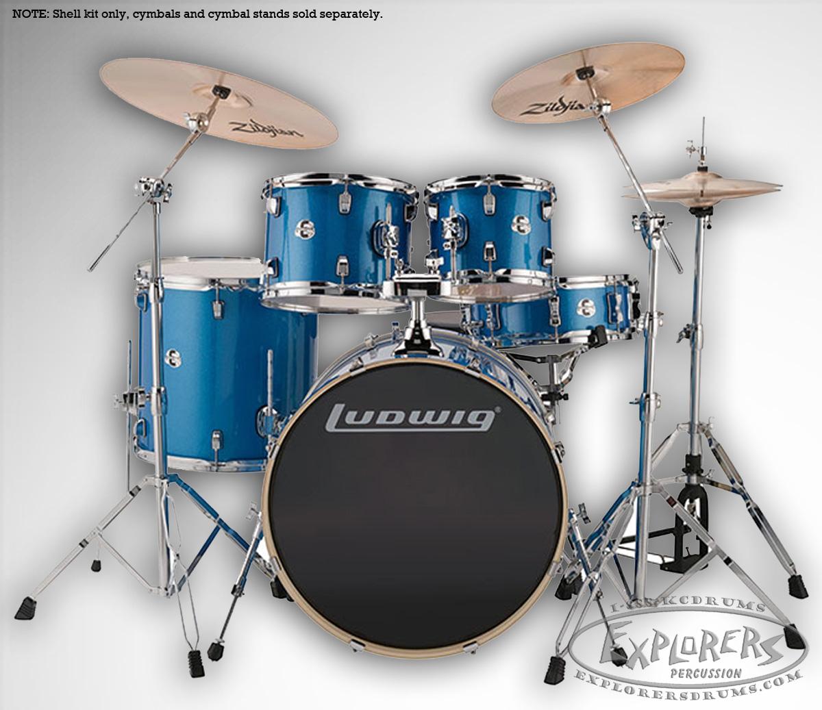 ludwig element evolution 5 piece complete drum set w hardware zildjian zbt cymbal pack. Black Bedroom Furniture Sets. Home Design Ideas