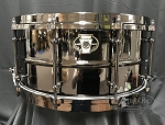 Ludwig Snare Drum Black Magic 6.5x14 Black Nickel Over Brass w/ Black Nickel Hardware