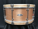 C&C Custom Snare Drum 6.5x14 7 Ply Mahogany Shell Wooden Hoops w/ Mahogany Inlay & Tube Lugs in Natural Mahogany Satin
