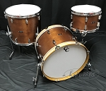 C&C Custom Drum Set Player Date 1 3 Piece 7 Ply Mahogany - Brown Mahogany Satin Stain - 20