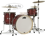DW PDP Drum Set Concept Maple Classic 3 Piece Shell Pack in Ox Blood Stain - 24,13,16