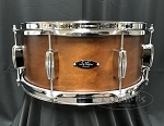 C&C Custom Snare Drum 6.5x14 Player Date 2 7 Ply Maple/Mahogany/Maple Shell - Brown Mahogany Satin