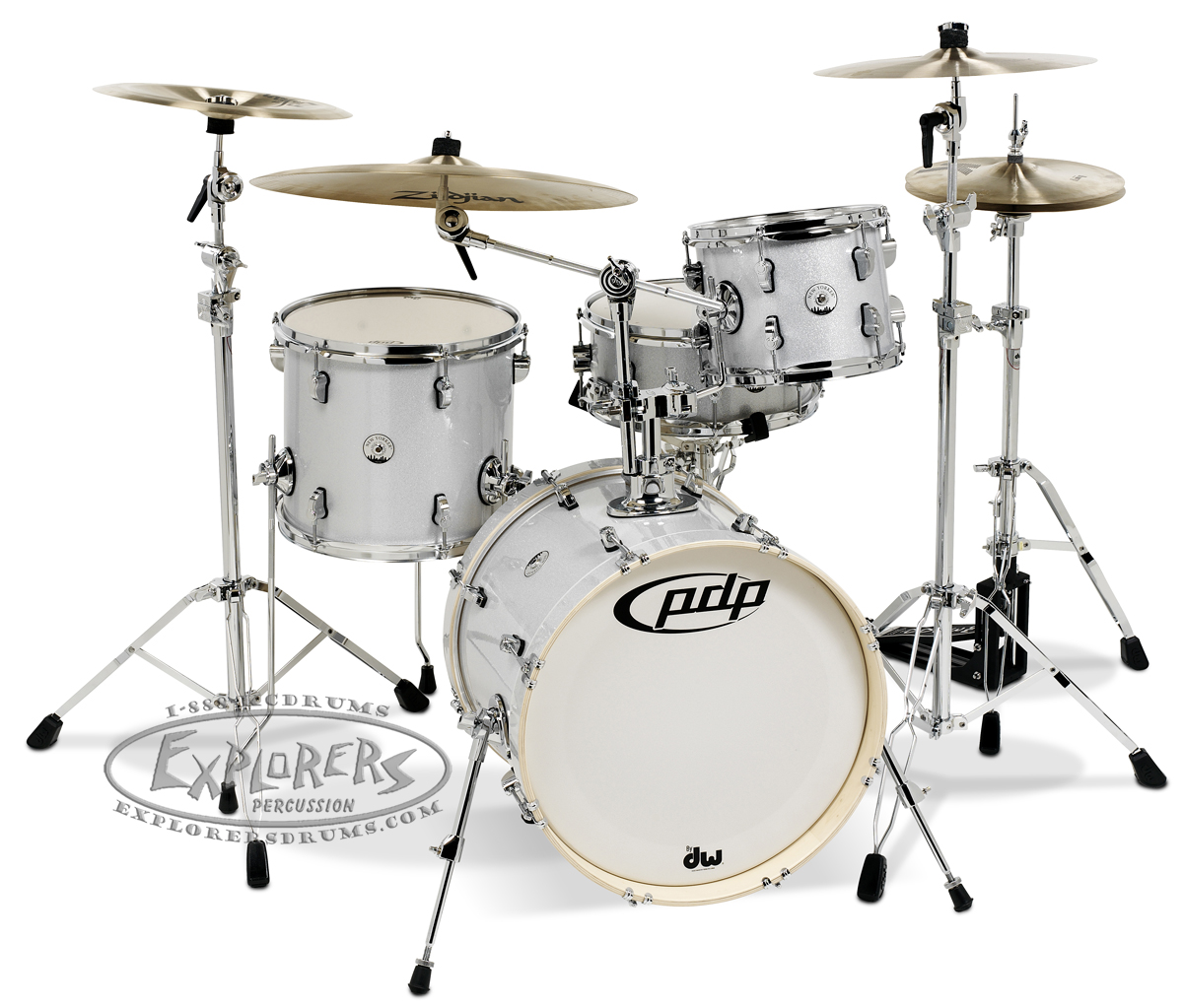 Dw Pdp Drum Set Concept Maple Quot New Yorker Quot 4 Piece Shell Pack