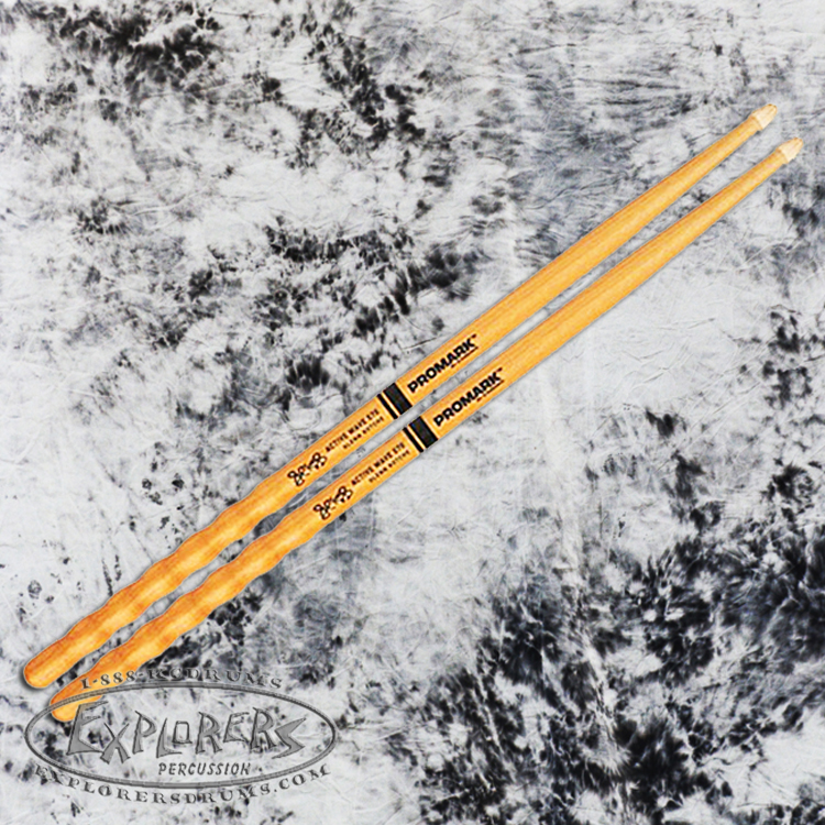 ProMark Hickory Glenn Kotche Active Wave 570 Wood Tip Drumsticks
