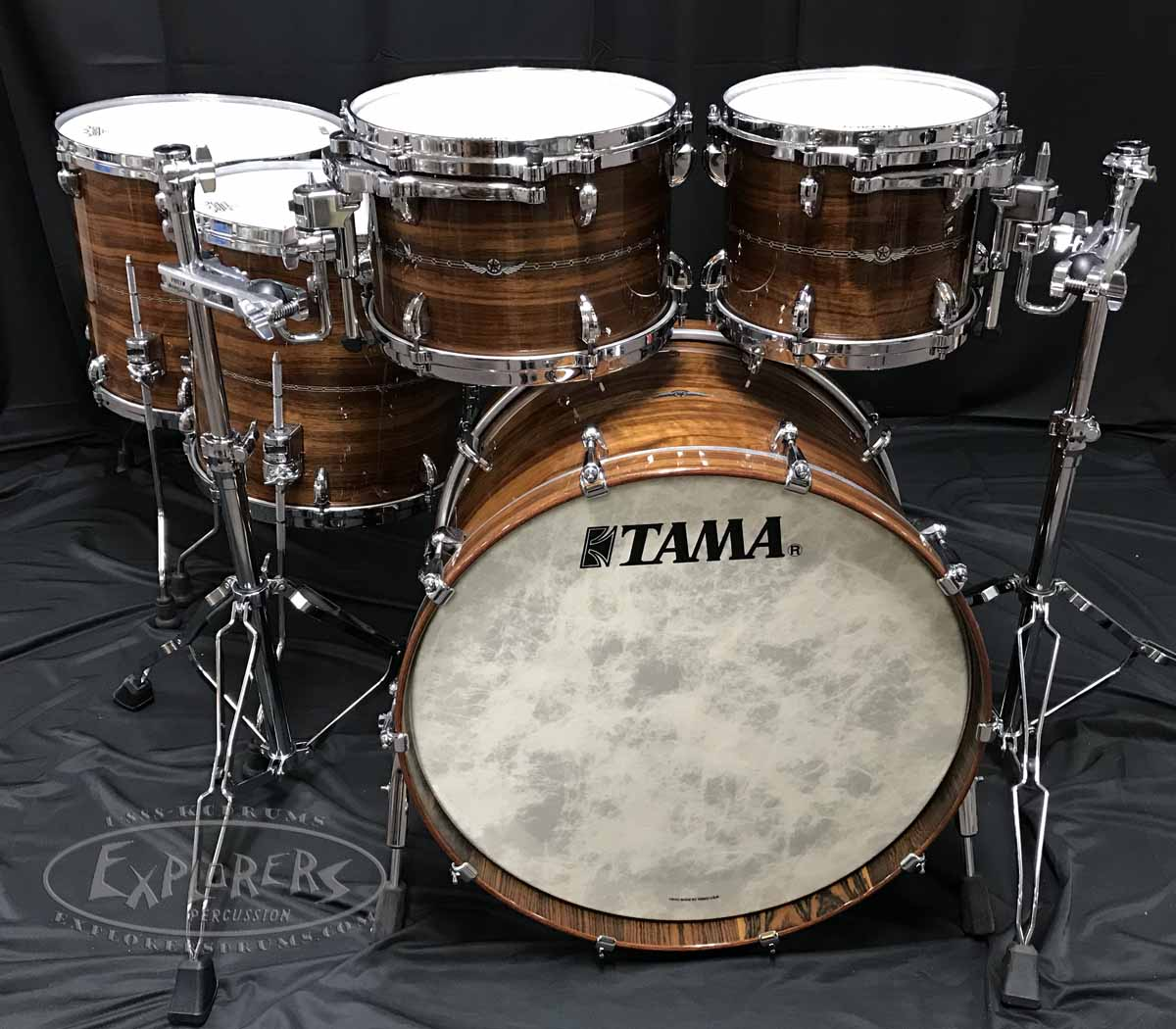 fc4730b347eb Tama Drum Set Star Series 5 Piece Bubinga Shell Pack in Natural ...