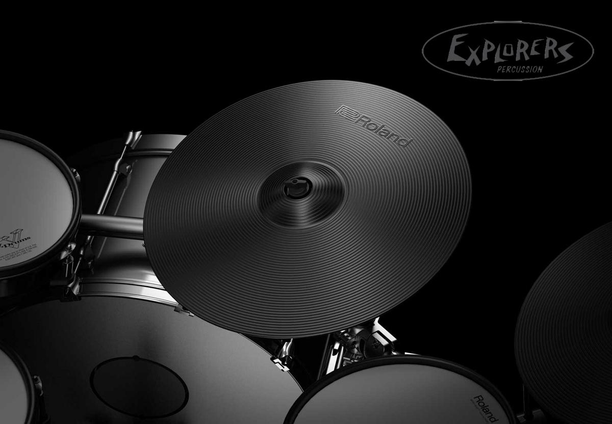 Roland V-Drums TD-50KVX-S Electronic Drum Set w/ FREE Roland Hydraulic  Saddle Throne