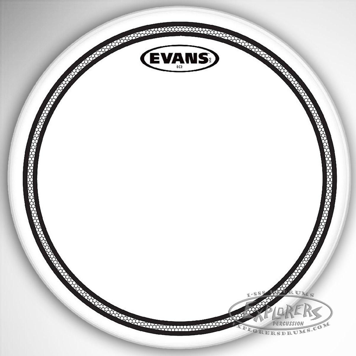 evans ec2 clear 2 ply batter drum head. Black Bedroom Furniture Sets. Home Design Ideas