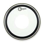 Aquarian High Energy Single Ply Snare Batter Drum Head w/ Bonded Power Dot & Target Dot