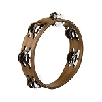 Meinl 2 Row Walnut Brown Tambourine with Stainless Steel Jingles