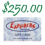 Explorers Percussion $250 Gift Card