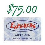 Explorers Percussion $75 Gift Card