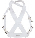 Ludwig White Bass Drum Parade Sling