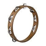 Meinl Walnut Brown Single Row Traditional Tambourine with Stainless Steel Jingles