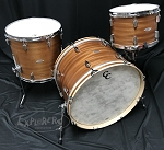 C&C Custom Drum Set 12th & Vine Big Beat 3 Piece 5 Ply Mahogany/Poplar in Ribbon Mahogany - 22, 13, 16