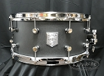 Trick Custom Snare Drum 6.5x14 AL13 Star Vent Aluminum Shell in Gambler's Gun Grey