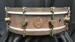 A&F Drum Co. Snare Drum 4x14 Raw Copper Shell w/ Raw Brass Hoops & Lugs