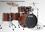 Tama Drum Set Ltd. Ed. Starclassic Performer B/B Exotix 5 Piece Shell Pack - Tigerwood Edition w/ Smoked Black Nickel Hardware