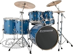 Ludwig Element Evolution 6 Piece Complete Drum Set w/ Hardware & Zildjian ZBT Cymbal Pack