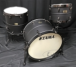 Tama Drum Set Limited Edition S.L.P. 3 Piece Big Black Steel Shell Pack - Matte Black Finish