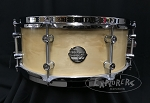 Doc Sweeney Snare Drum USA Custom 6x14 Steambent Box Elder Maple Shell w/ Polished Chrome Hardware & 45 Round-Over Edges