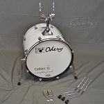 Odery Cafe Kit Portable Drum Set Expansion Pack - White Ash