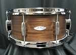 C&C Custom Snare Drum 6.5x14 12th & Vine Mahogany/Poplar Shell in Espresso