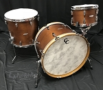 C&C Custom Drum Set Player Date 1 Big Beat 3 Piece 7 Ply Mahogany in Brown Mahogany Stain - 22,12,16