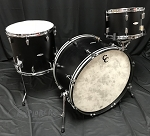C&C Custom Drum Set Player Date 2 Big Band 3 Piece 7 Ply Map/Mah/Map in Ebony Satin - 24,13,16