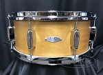 C&C Custom Snare Drum 6.5x14 Player Date 2  7 Ply Maple/Mahogany/Maple Shell - Aged Maple Satin