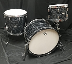 C&C Custom Drum Set Player Date 2 Big Beat 3 Piece 7 Ply Map/Mah/Map in Black Diamond Pearl - 22,13,16