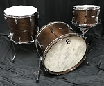 C&C Custom Drum Set Player Date 2 Big Beat 3 Piece 7 Ply Map/Mah/Map in Walnut Stain - 22,12,16
