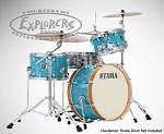 Tama Drum Set Superstar Classic Neo-Mod 3 Piece Maple Shell Pack in Turquoise Satin Haze