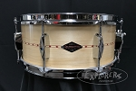 Craviotto Snare Drum Heritage 6x14 Maple Shell w/ Red Inlay & 45 Edges - Oil Finish