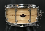 Craviotto Custom Snare Drum Solid Shell 6.5x14 Ash w/ Double Walnut Inlay 45/45 Bearing Edge