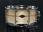 Craviotto Snare Drum Custom Shop 6.5x14 Maple Shell w/ Cherry Inlay & Baseball Bat Edges - Oil Finish
