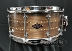 Craviotto Snare Drum Custom Shop 6.5x14 Walnut Shell w/Double Walnut Inlay & 45 Edges - Oil Finish