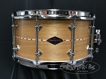 Craviotto Snare Drum Custom Shop 7x14 Mahogany Shell w/ Red Inlay & 45 Edges - Oil Finish