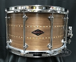 Craviotto Custom Snare Drum Solid Shell 8x14 Walnut w/ Double Walnut Inlay 45/45 Bearing Edge