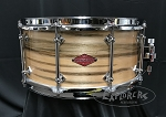 Craviotto Snare Drum Custom Private Reserve 6.5x14 Ambrosia 10 Lug Shell w/ 45 Edges - Oil Finish