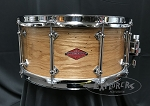 Craviotto Snare Drum Custom Private Reserve 6.5x14 Wormy Oak 10 Lug Shell w/ 45 Edges - Oil Finish