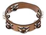 Meinl Compact Tambourine Steel Jingles 2 Rows Walnut Brown