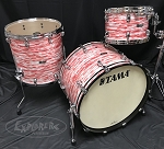 Tama Drum Set Starclassic 3 Piece Maple Shell Pack in Red White Oyster
